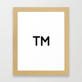 Trademark Symbol Framed Art Print