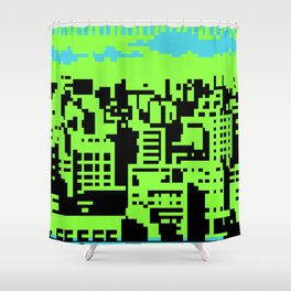 cityscape 07A (C64 remix) (2011) Shower Curtain
