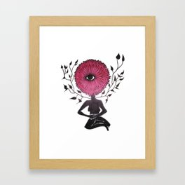 Divine Flower Woman Framed Art Print