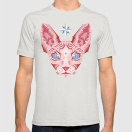 Sphynx Cat - Rose Quartz and Serenity version T-shirt