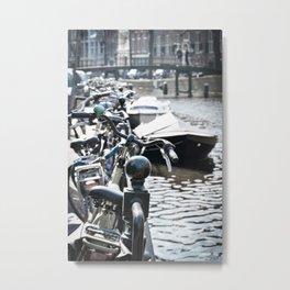 Amsterdam Canal Detail Metal Print