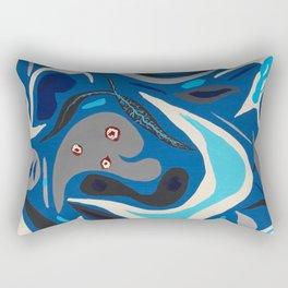Parasites in Blue Rectangular Pillow