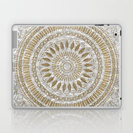 Elegant hand drawn tribal mandala design Laptop & iPad Skin