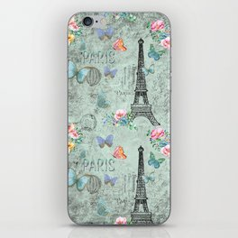 Paris - my love - France Eiffeltower Nostalgy - French Vintage iPhone Skin