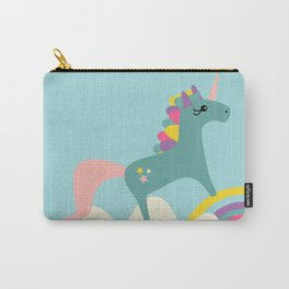 unicorn and rainbow blue Carry-All Pouch