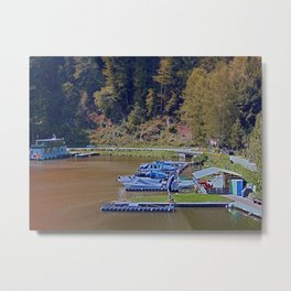 Boats in the harbour II | waterscape photography Metal Print