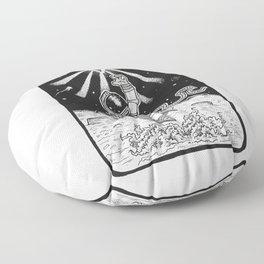 Spaceman Grey Floor Pillow