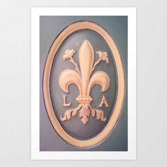Versallies, France, French wood door Art Print