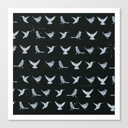 Black & White Silhouette Canvas Print
