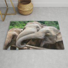 Elephants Art One Rug