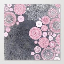 FESTIVAL FLOW - PINK GREY Canvas Print