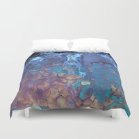 cracked Duvet Covers featuring Waterfall  by Lena Weiss