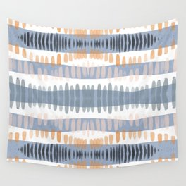 Tribal Watercolor Stripes Wall Tapestry