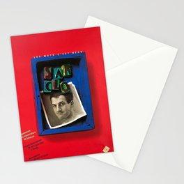 retro plakat sarclo les mots cest beau Stationery Cards