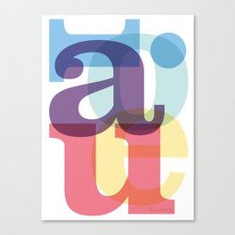 aeiou Canvas Print