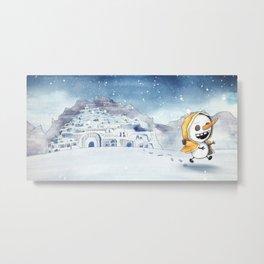 讓我吃雪吧! Let me Eat Snow! Illustration 1 Metal Print