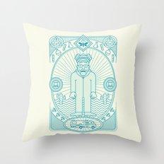 Crystal Blue Jam  Throw Pillow