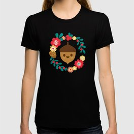 Acorn and Flowers T-shirt