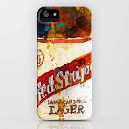 Red Stripe Jamaican Style Lager Beer iPhone Case
