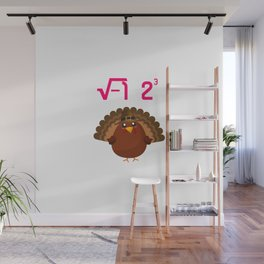 I Ate Turkey Thanksgiving Math Teacher Funny Equation Wall Mural