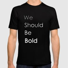 Bold MEDIUM Black Mens Fitted Tee