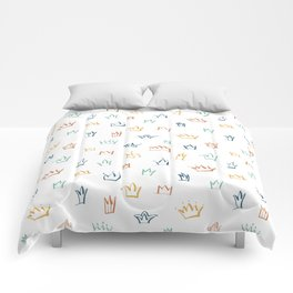 Colorful crowns Comforters