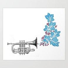 cornet. Art Print