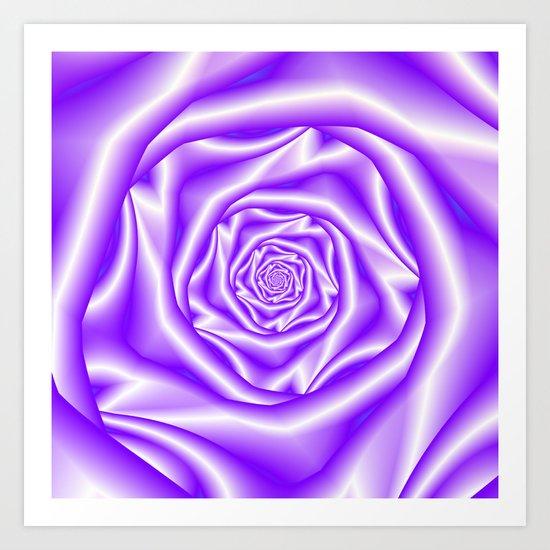 Lilac Rose Spiral Art Print
