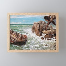 Odysseus And Polyphemus - Arnold Bocklin Framed Mini Art Print