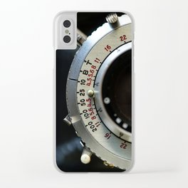 Close-Up Photo of Vintage Camera Clear iPhone Case