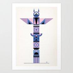 Geometric Totem Art Print