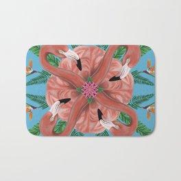 Flamingo Tropical Mandala Bath Mat