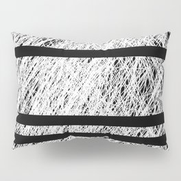 Interrupted Thoughts - Abstract Black And White Pillow Sham