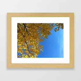 Blue Skies. Framed Art Print