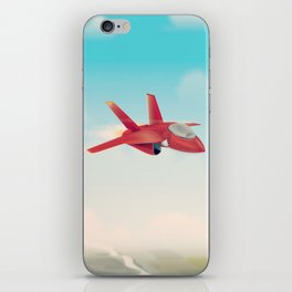 Red Jet fighter plane iPhone Skin