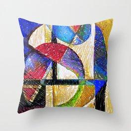 Circles and Shapes Throw Pillow