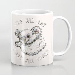 Nap All Day Sleep All Night Coffee Mug