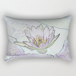 Waterlily Abstract Rectangular Pillow