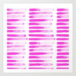 Raspberry Brush Strokes Art Print