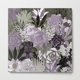Succulents Art Metal Print