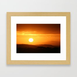 Yet Another Day Is Here... Framed Art Print
