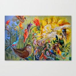 Bird-town Canvas Print