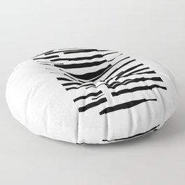 Organic No. 13 Black & Off-White #minimalism #decor #society6 Floor Pillow