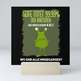 Soap Gift Seife Tötet 99 Prozent Mini Art Print