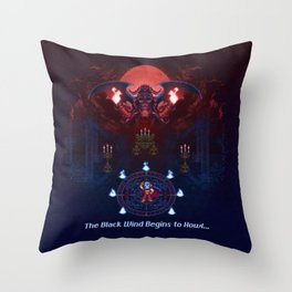 The Black Wind Throw Pillow
