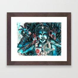 Goddess Kali Framed Art Print