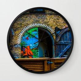 Denmark Graffiti Door Wall Clock