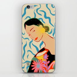 SMILING WOMAN AND SUNSHINE iPhone Skin