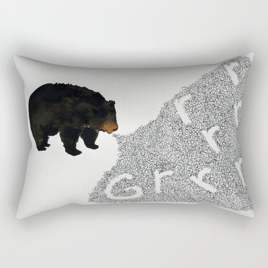Grrrrrr... Rectangular Pillow