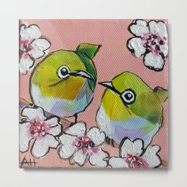 Itty Bitty Birdy Blossoms Metal Print